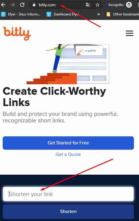 masukkan link