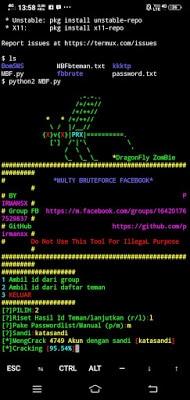 hack fb lewat termux
