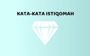 Kata-kata Istiqomah
