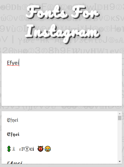 font bio instagram dan facebook