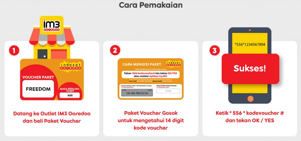 cara mengisi dan memasukan paket voucher im3 indosat
